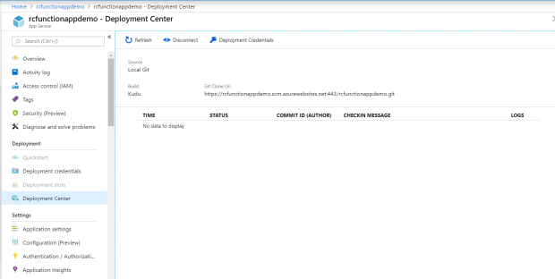 Azure Function App Dep Center 2