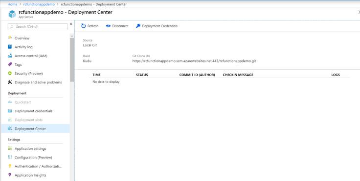 Azure Function App Dep Center 2