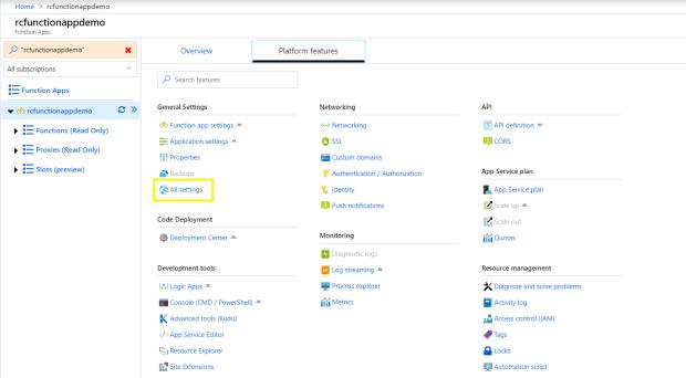 Azure Function App Dep Center