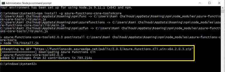install azure functions cli 2.png